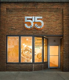 Historical brick front of the 515 Gallery